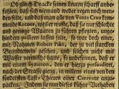Anonymus: Der Englische Held und Ritter Franciscus Dracke. 1727, Seite 79.