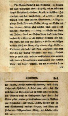 David Schöpf: Reise durch einige der mittleren und südlichen vereinigten nordamerikanischen Staaten, Zweyter Teil, 1788, Seite 346-347.
