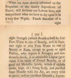 Thomas Short: Discourses on tea, sugar, milk, made-wines, spirits, punch, tobacco, &c., 1750, Seite 191-192.