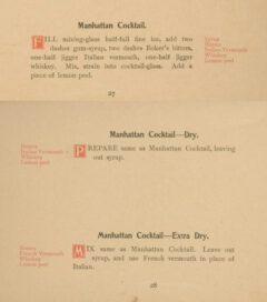 Anonymus: Cocktails. 1898, Seite 27-28.