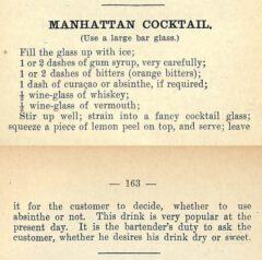 Harry Johnson: The New and Improved Illustrated Bartenders' Manual . 1900. Seite 162-163.