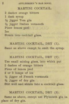 John Applegreen Applegreen's Bar Book. 1909, Seite 2.