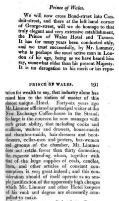 Anonymus: The epicure's almanack. London, 1815. Seite 190-191.