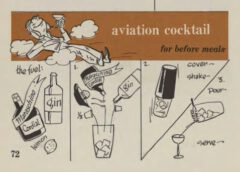 Aviation Cocktail. Robert H. Loeb, Jr, Nip Ahoy, 1954. Seite 72.