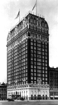 Das Blackstone Hotel in Chicago im Jahr 1912.