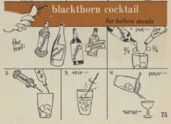 Blackthorn Cocktail. Robert H. Loeb, Nip Ahoy, 1954, Seite 75.