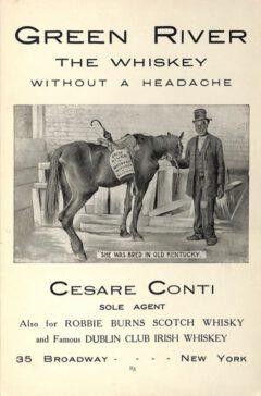 Robbie Burns Scotch Whisky - Anzeige aus dem Jahr 1908.
