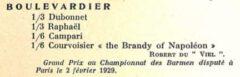 Boulevardier. Cocktails de Paris, 1929.