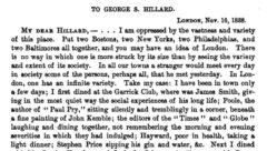 Brief an George Hillard. London, 16. November 1838.