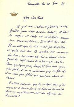Brief von Pascal Negroni aus dem Jahr 1886. (c) Hector Negroni.