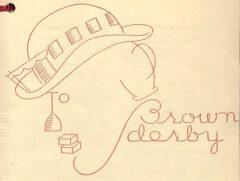 Brown Derby. Anonymus, Hollywood's Fovorite Cocktail Book, 1933, nach Seite 16.