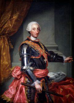 Carlos III., König von Spanien, um 1761.
