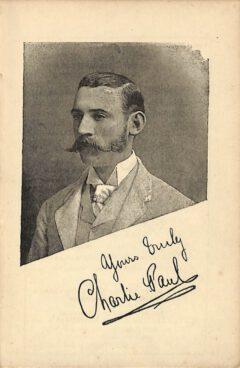 Charlie Paul, um 1887.
