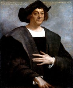 Christoph Columbus, posthumes Porträt von Sebastiano del Piombo aus dem Jahr 1519.