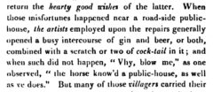 Cock-tail. Boxiana, 1828, Seite 68.