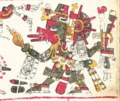 Quetzalcoatl, aus dem Codex Borgia.