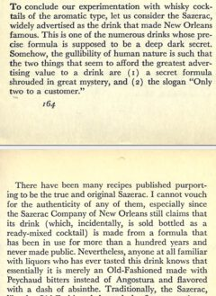 David A. Embury - The fine Art of Mixing Drinks - Seite 164-165, 1948.