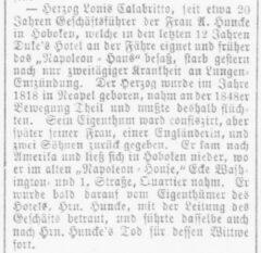 Der Deutsche Korrespondent, Baltimore, 19. März 1886.