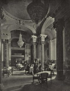 Der Palm Garden im Belmont Hotel, 1906.