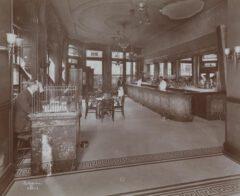Die Bar im Hotel Cadillac, dem späteren Hotel Wallick, im Jahr 1906.