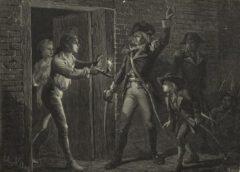 Die Einnahme von Fort Ticonderoga im Jahr 1775.