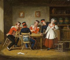 Dolly's Tavern, St. James Street, Montreal. Cornelius Krieghoff, 1845.