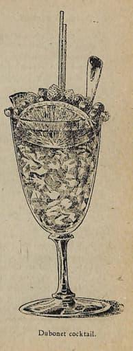 Dubonnet Cocktail. Pedro Talavera, Los secretos del cocktail, 1940. Seite 77.