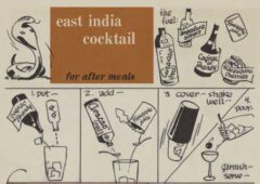 East India Cocktail. Robert H. Loeb, Jr, Nip Ahoy, 1954. Seite 80.