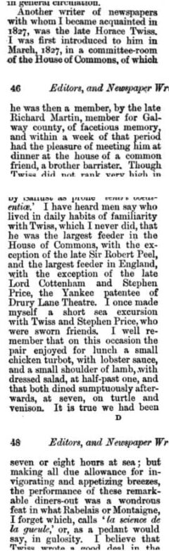 Fraser's Magazine For Town And Country. Vol. 64. London, 1862. Seite 45-48.