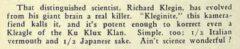 Harry McElhone, Barflies and Cocktails, 1927, Seite 81.