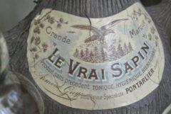 Historisches Etikett des Vrai Sapin.