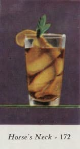 Horse's Neck. Marcel & Roger Louc, Cocktails et grand crus, 1953. Seite 65.