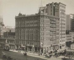 Hotel Cadillac, das spätere Hotel Wallick, im Jahr 1906.