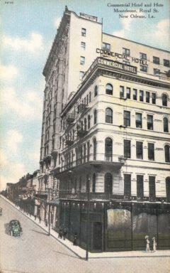 Hotel Monteleone und Hotel Commercial um 1910.