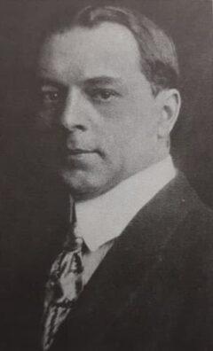 Hugo Richard Ensslin, um 1917.