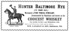 Hunter's Baltimore Rye. Harper's Weekly, 3. Juli 1897, Seite 671.