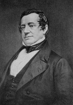 Daguerreotype von Washington Irving alias Diedrich Knickerbocker, um 1860.
