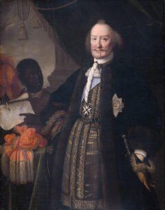 """Johann Moritz Fürst von Nassau-Siegen, genannt """"Der Brasilianer"""" auf einem Gemälde von Pieter Nason im Jahr 1675."""