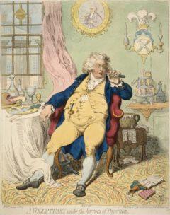 Karikatur von Georg IV, als Prince of Wales, 1792.