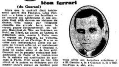 La semaine à Paris. No. 347, Januar 1929, Seite 56. Léon Ferrari.