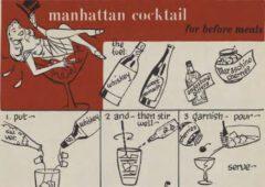 Manhattan Cocktail. H.Loeb, Jr., Nip Ahoi, 1954. Seite 35.