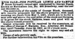 Manhattan Inn und George Black. New York Herald, 10. Juni 1881, Seite 11.