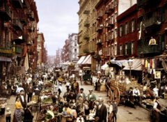 Manhattan, Little Italy, Mulberry Street um 1900.