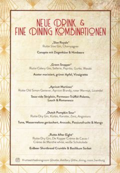Neue Drink & Fine Dining Kombinationen.
