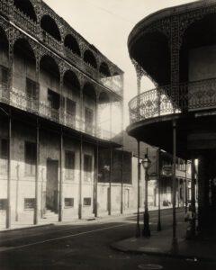 Das Gardette-La-Petre House in New Orleans' French Quarter, um 1937.