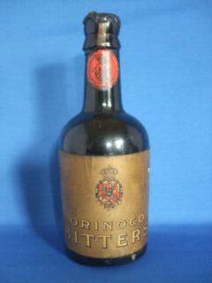 Eine antike Flasche der Orinoco Bitters.