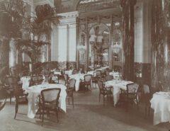Palm Garden des Belmont Hotels im Jahr 1906.