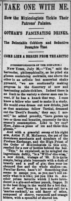 Pittsburg Dispatch, 28. Juli 1889, Seite 15.