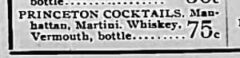 Princeton Cocktails. Richmond County Advance, 11. November 1905, Seite 8.