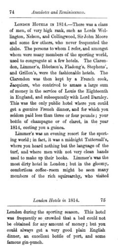 Rees Howell Gronow: Reminiscences of Captain Gronow. London, 1862. Seite 74-75.